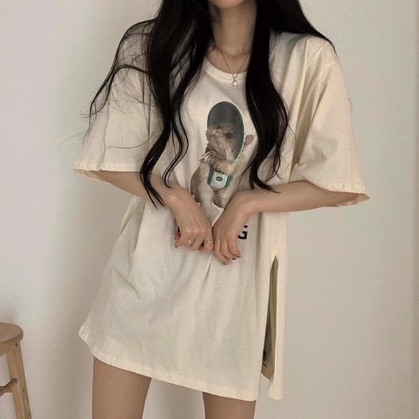 Nyangnyang Over-open Short Sleeve Tee 短袖上衣