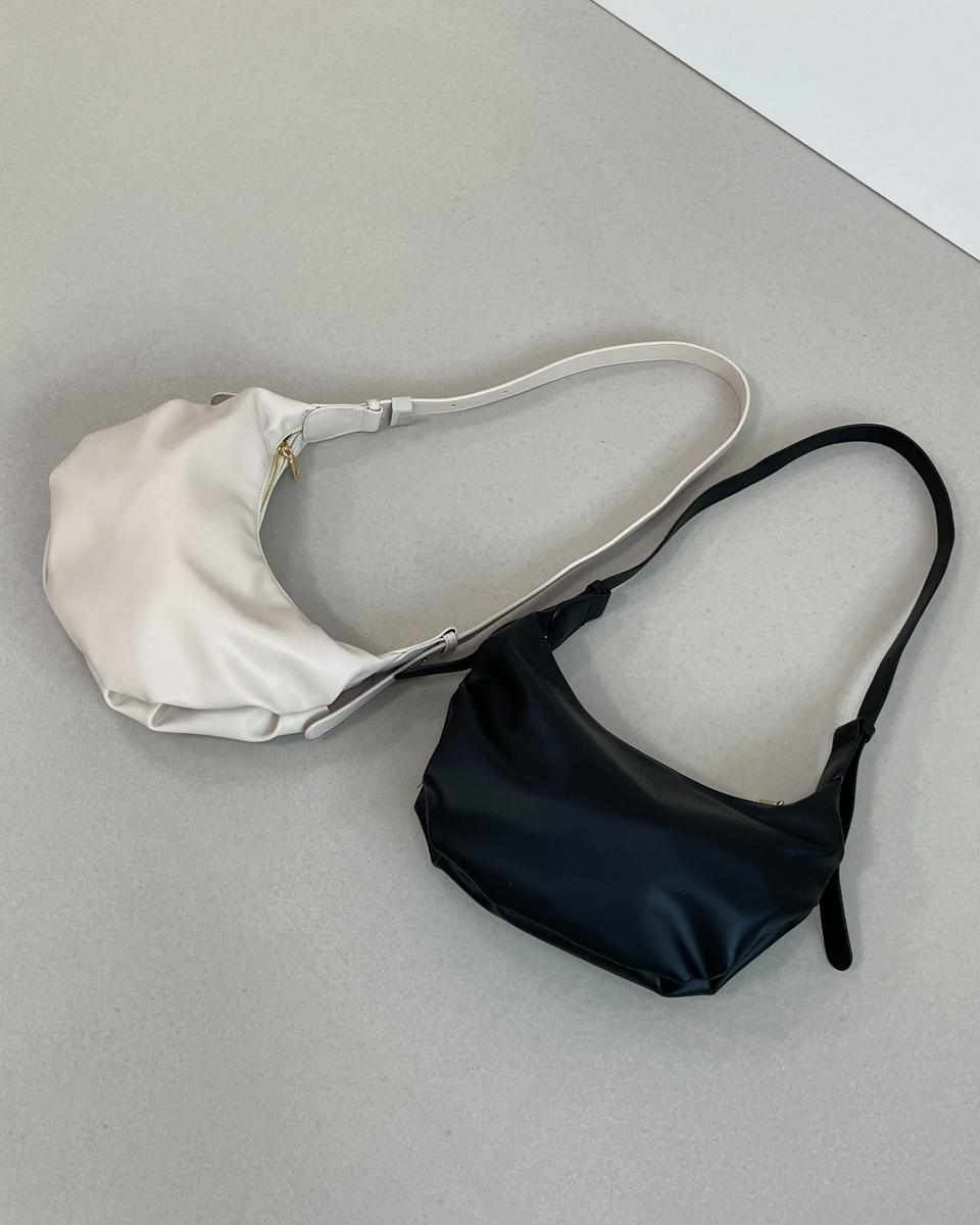 Vita shirring shoulder cross-body bag