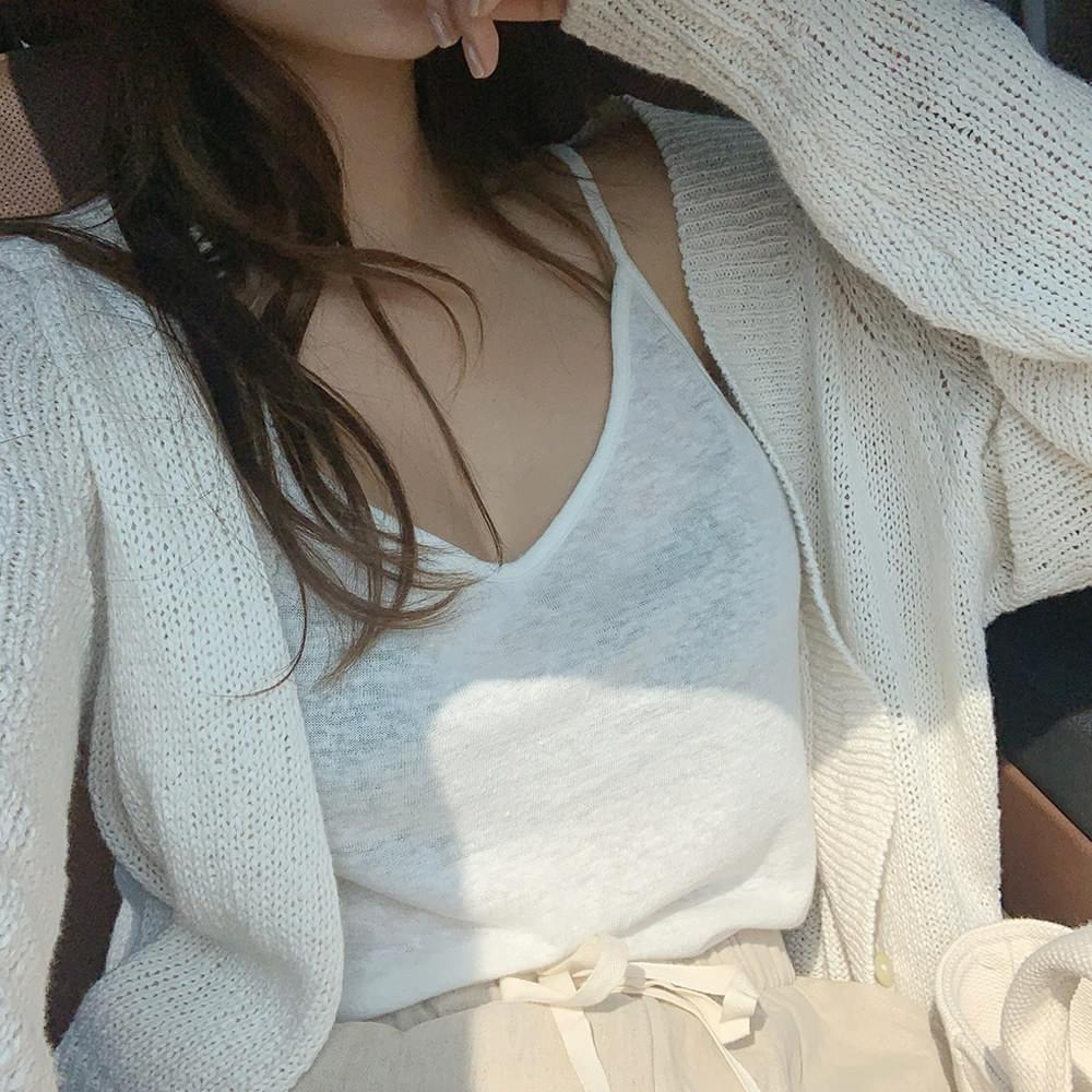 Linen Strap Sleeveless