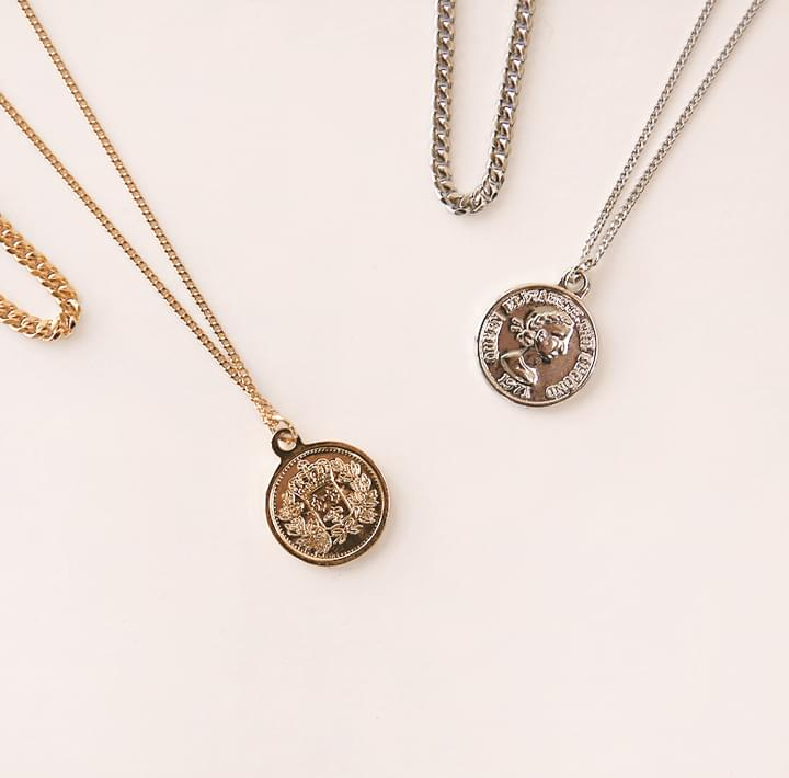 COIN 2 CHAIN LAYERED NECKLACE