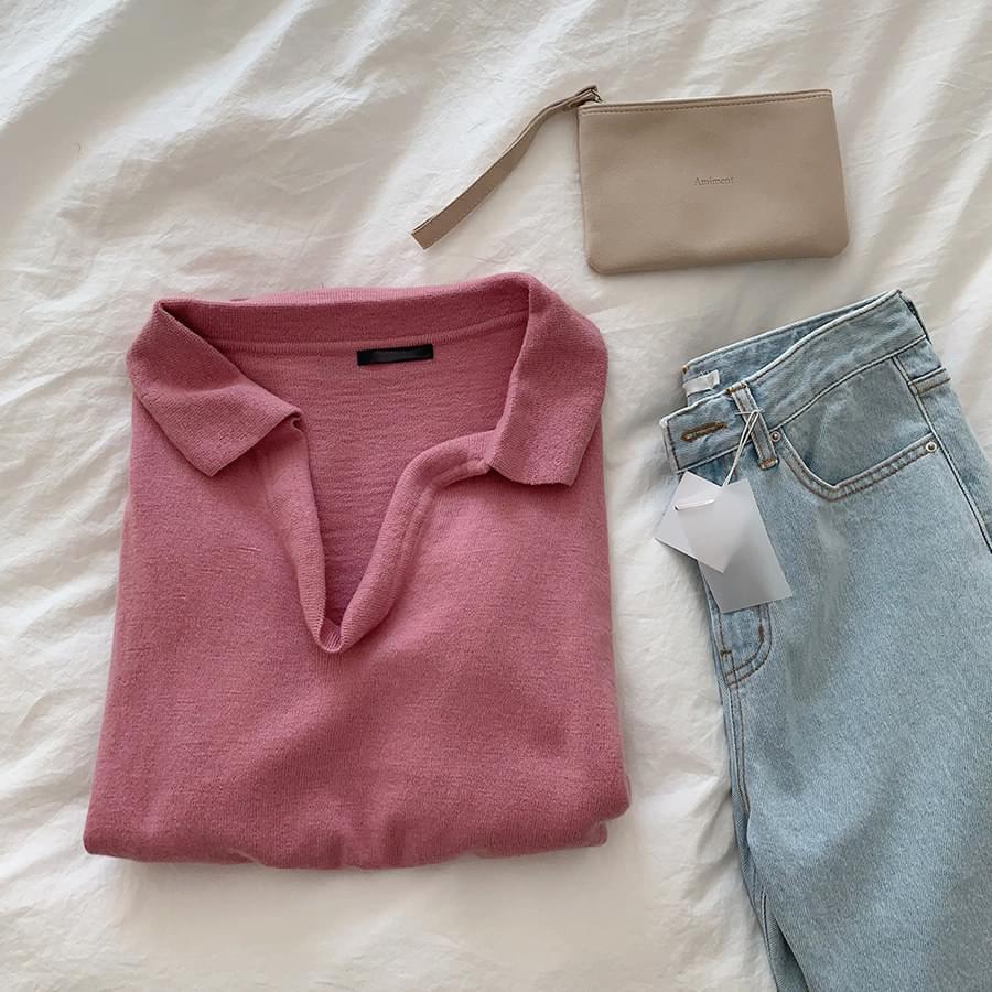 Open Collar Knit