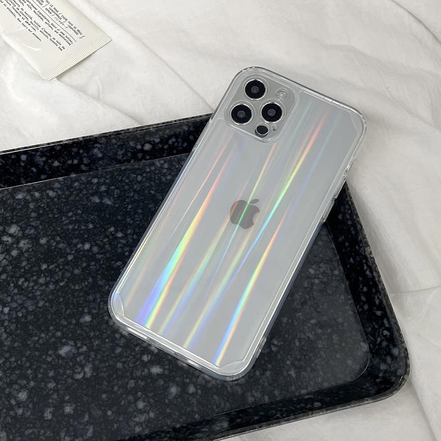 Plain Hologram Aurora Transparent iPhone Case