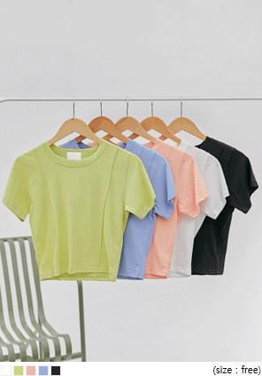 Short Sleeve Pintuck T-Shirt