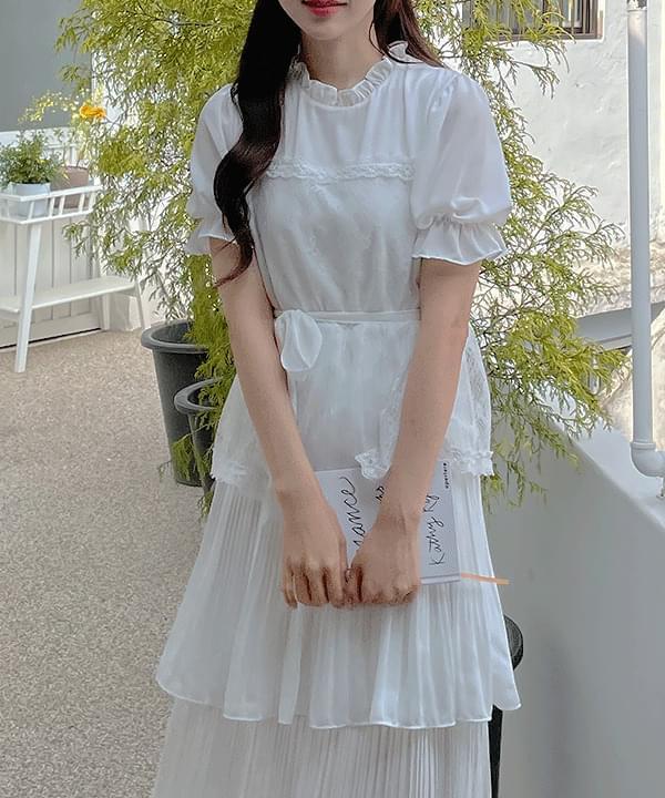 Serene Ribbon Dress 2color
