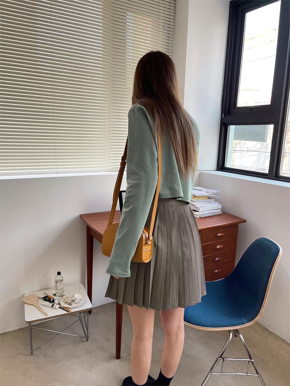Jetty pleated mini skirt