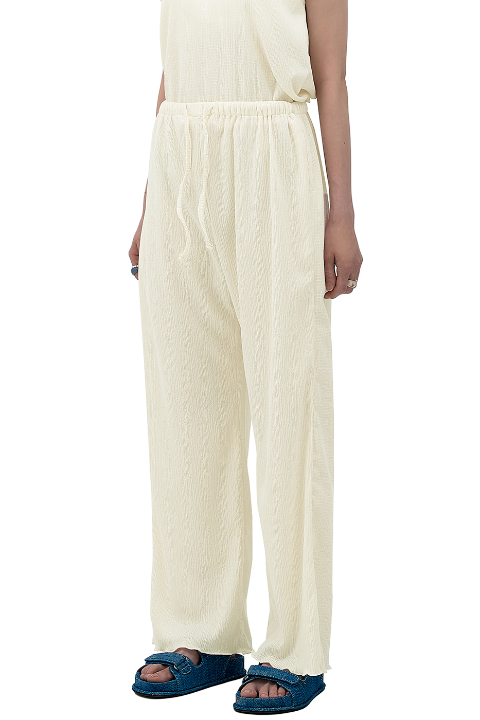 Mod Wrinkle Lounge Banding Pants