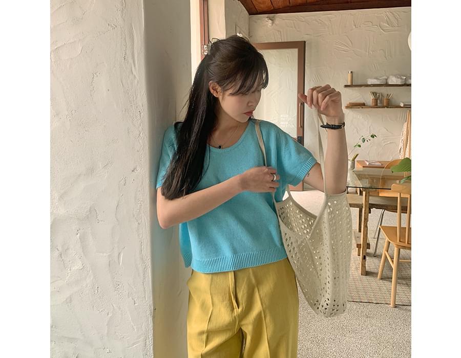 Punching Market Knitwear Shoulder Bag