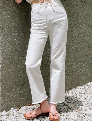 Cumming Cut Straight Cotton Pants