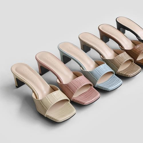 Comos python mules slippers