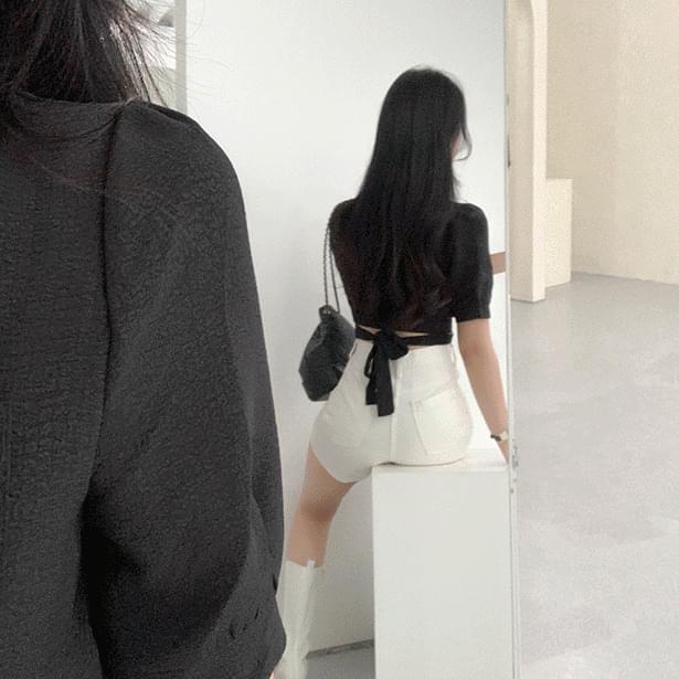 wrinkle strap blouse