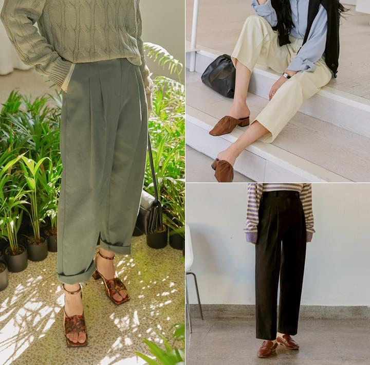 Pleated Leg Cotton Pants