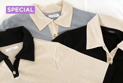1 Item, 10 Stylings - Color button collar short sleeve t
