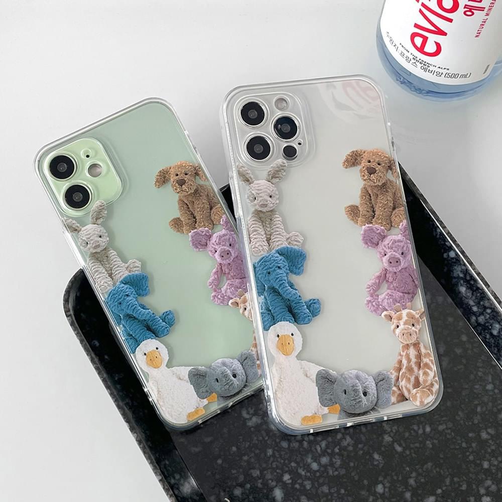 可愛玩偶朋友們iPhone手機殼