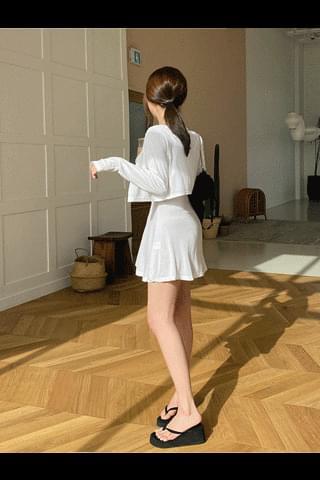 Upgraded Cardigan Sleeveless Dress Set