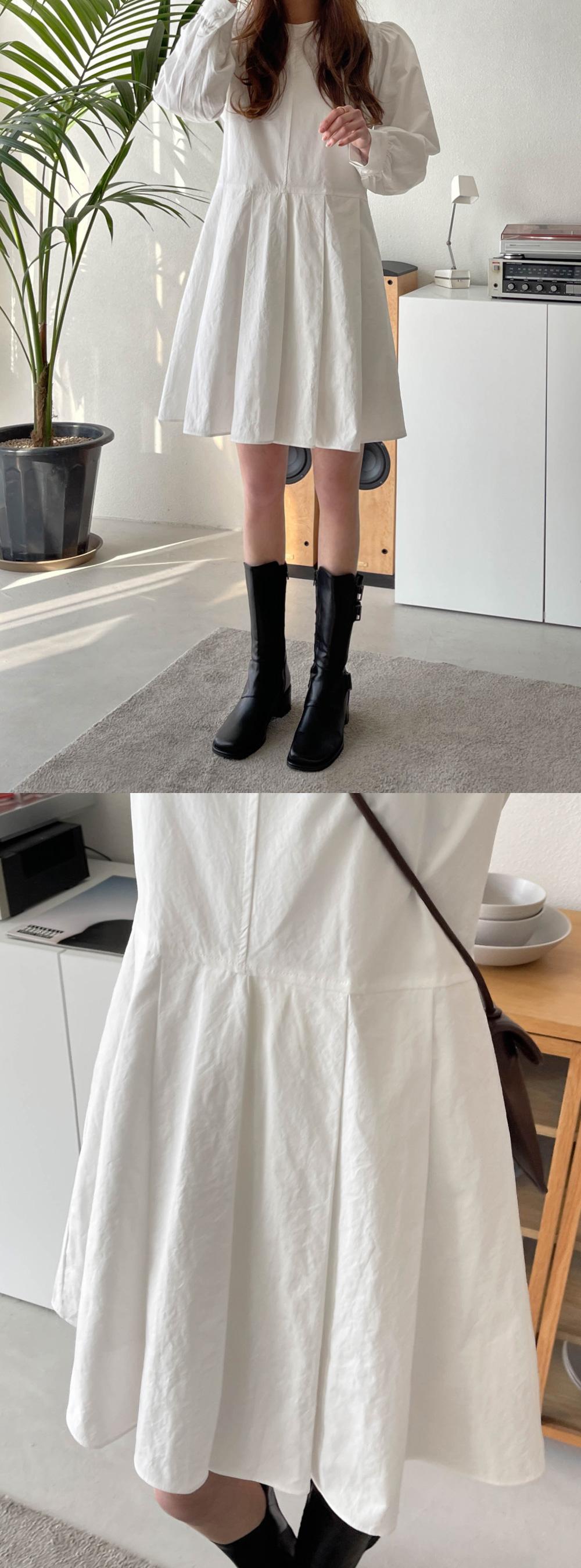 Rose Puff Pintuck Dress