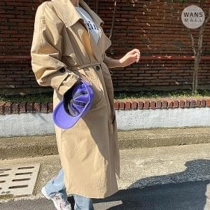 tc0277 Sweet Double Button Trench Coat
