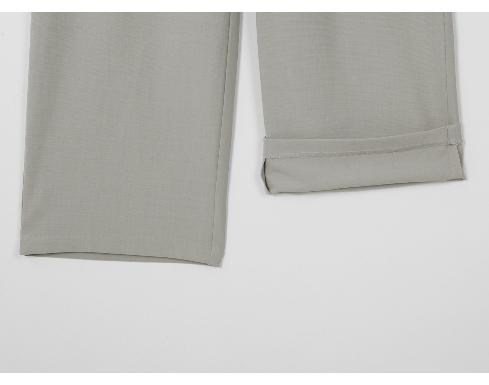 Low Bet Two Pin Tuck Wide Long Slacks - 3 color