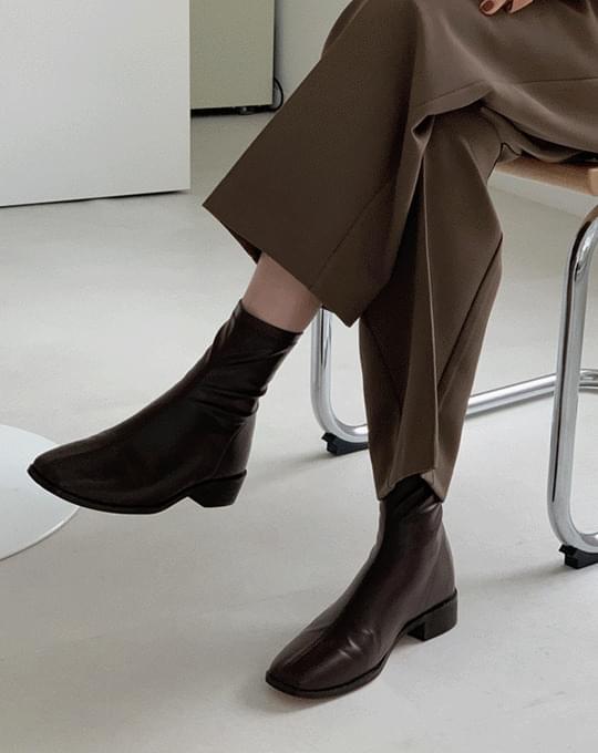 launan square ankle boots - 4 color