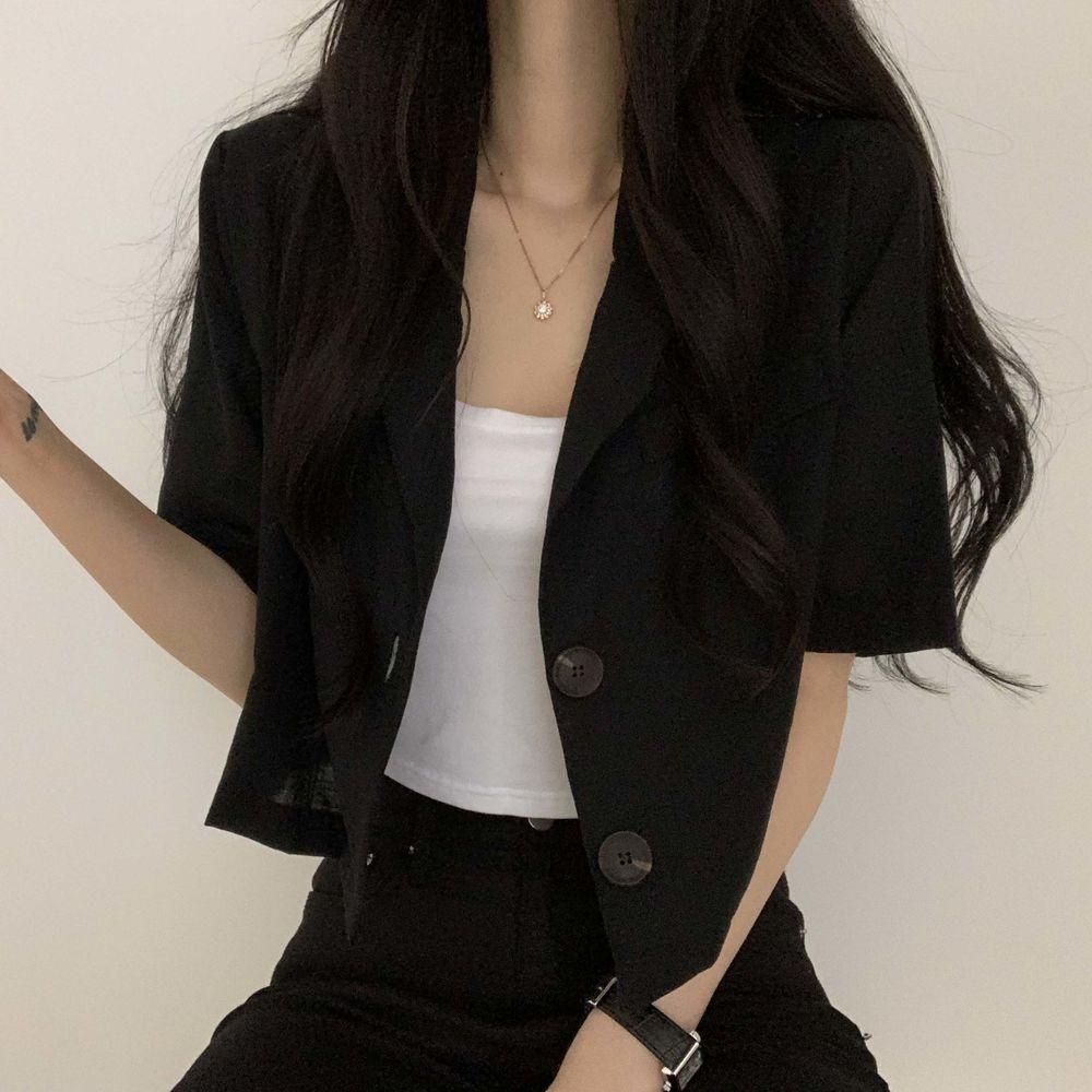 Basic Linen Short Sleeve Jacket
