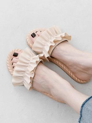Lovely shirring strap rattan pattern slippers 10999 ♡1st sold out♡