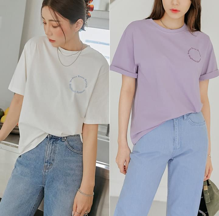Text Print Loose Fit T-Shirt (Delayed delivery)