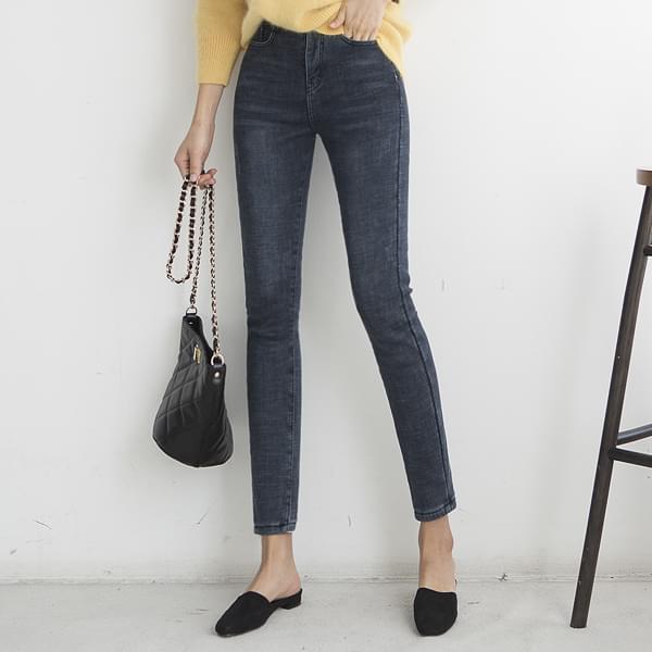 SUPER EXTRA HEAT / Warm Fleece-lined jeans #75043