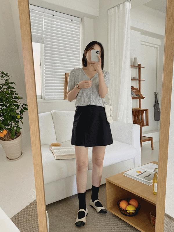 linen wrap miniskirt