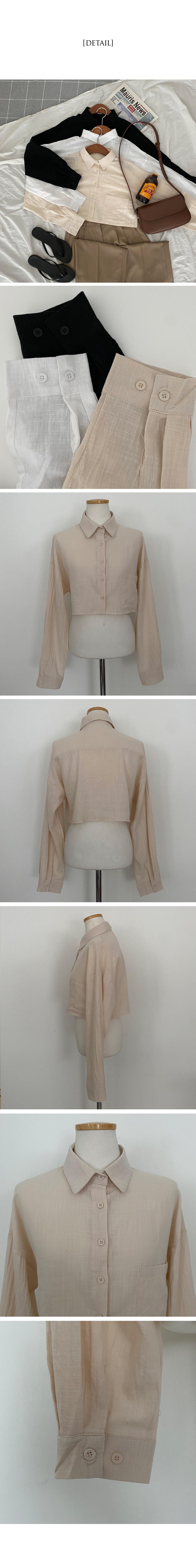 Sentville Linen Crop Shirt Shirt