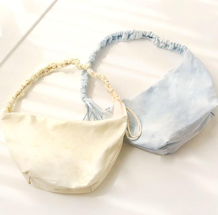 Ruched Drawstring Strap Shoulder Bag