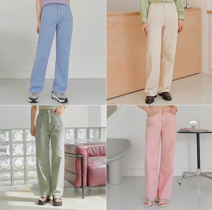High Waist Loose Straight Pants (Delayed delivery)