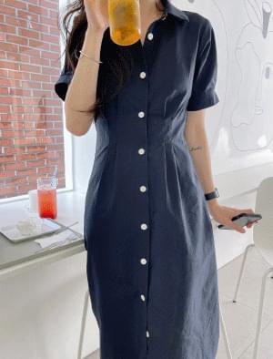 Fiona Pintuck Long Shirt Dress