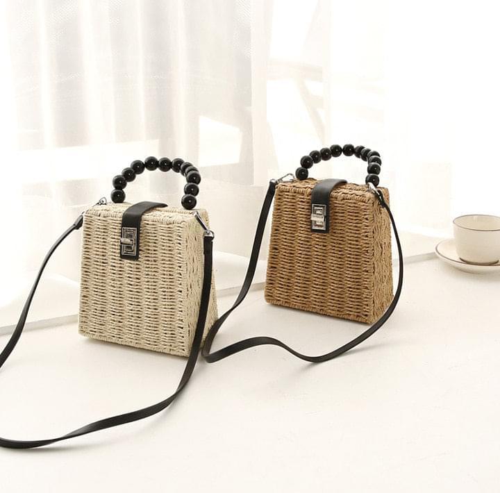 Rattan Square Mini Bag