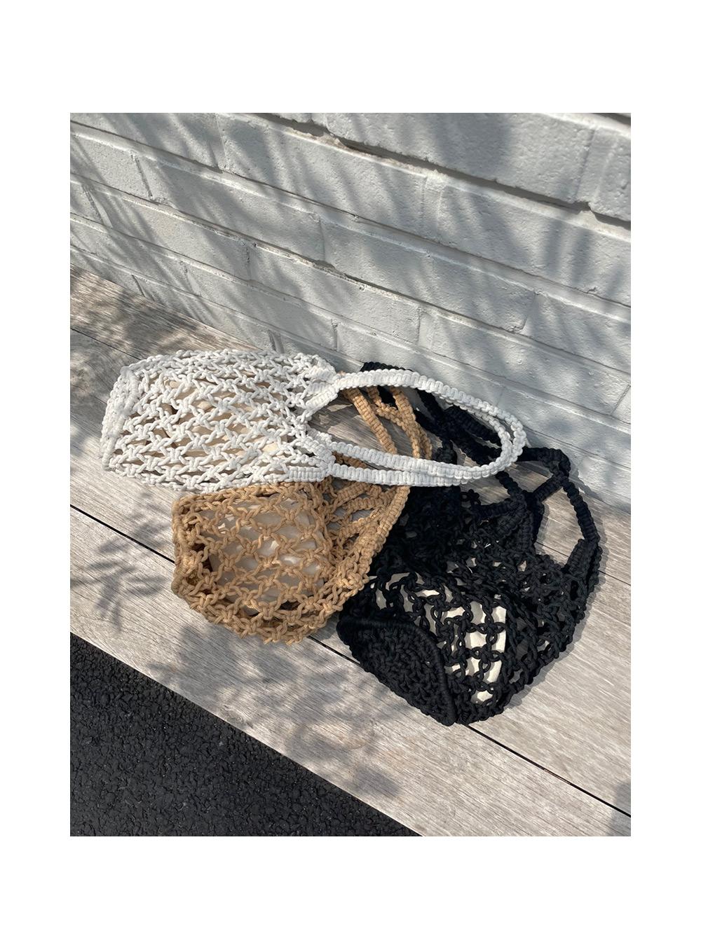Ruffle Net Knitwear Shoulder Bag