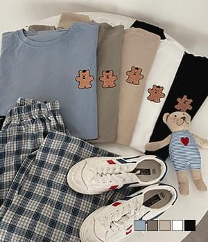 Bowtie Teddy Bear Overfit Short Sleeve T-shirt