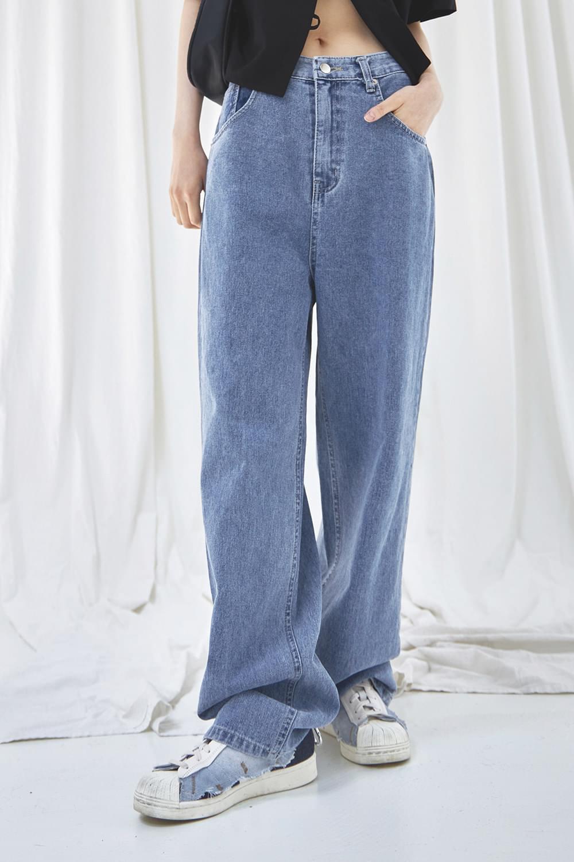 Natural washing denim Pants