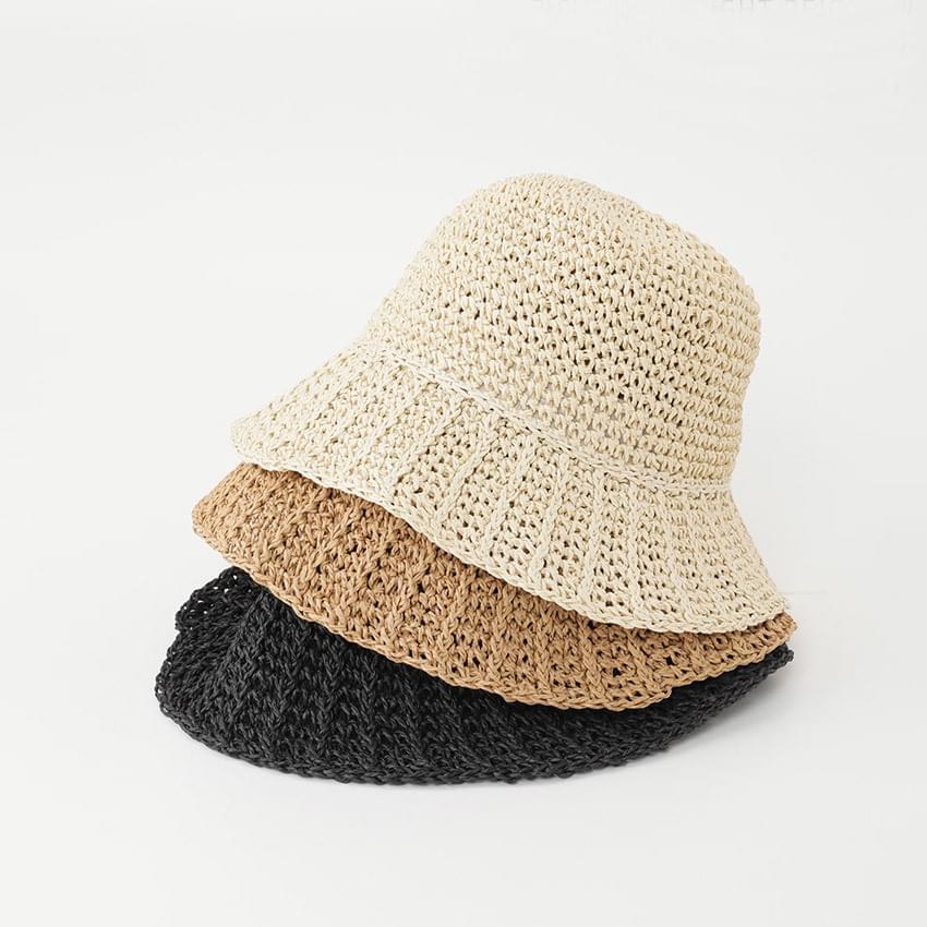 Blend Straw Bucket Hat
