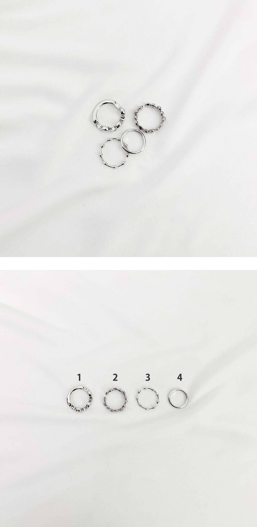 Nuka Antique 4 Set Ring Set