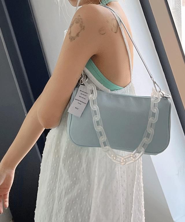 Tender Chain Baguette Shoulder Bag