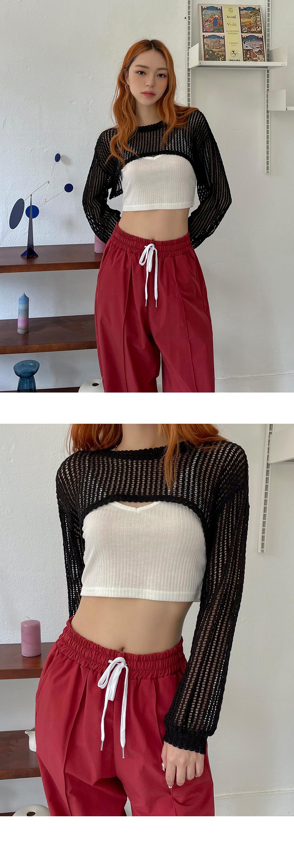 Messiah Net Bolero Long Sleeve Knitwear