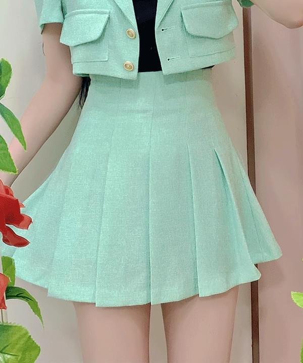 Billion pleated mini skirt 3color