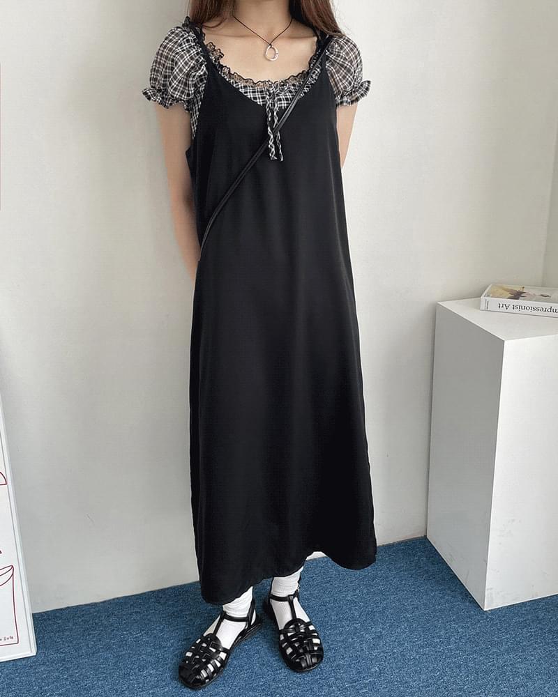 Juicy Silk Split Sleeveless Long Dress