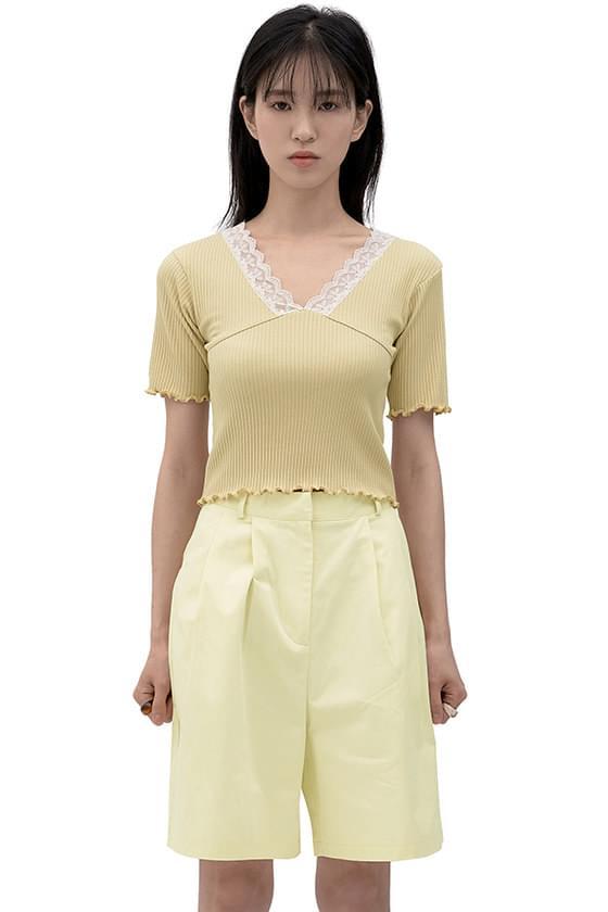 Prosome Lace V-Neck Knitwear
