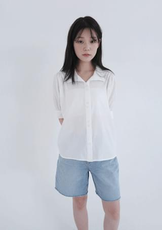 tidy puff half blouse (2colors)