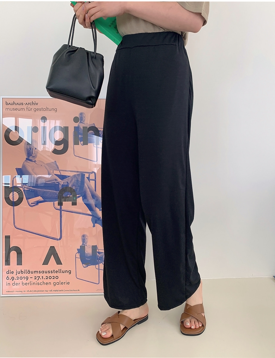 Oldison banding wide-fit trousers