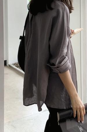 Mood Linen Long Shirt Jacket