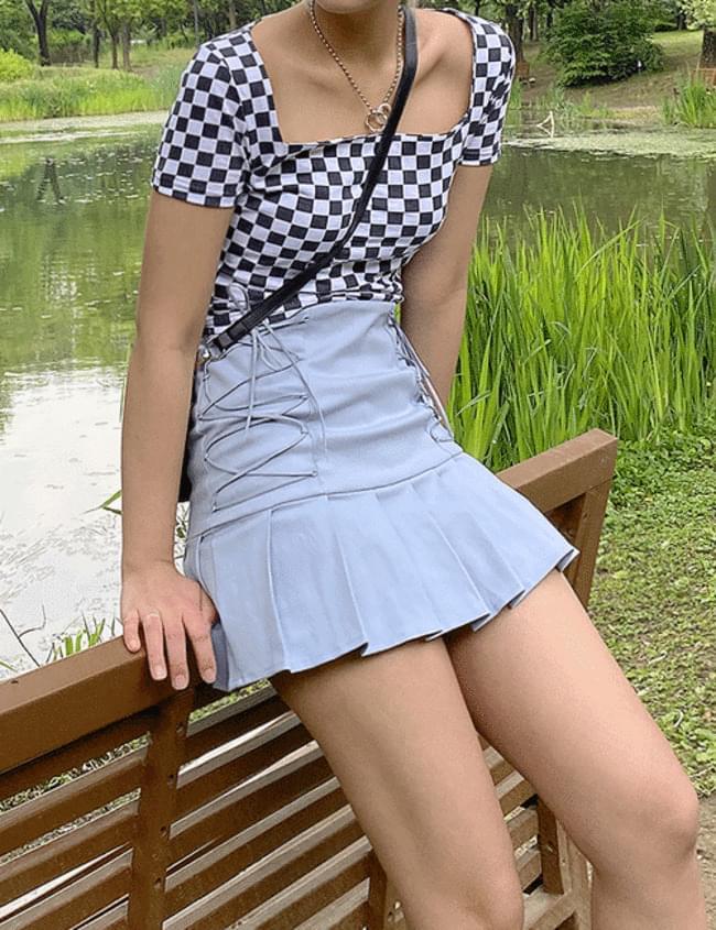 corset pleated skirt