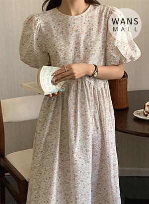 op4805 Luffy Back Ribbon Flower Long Dress
