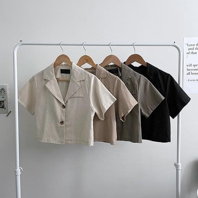 翻領短版西裝外套(4color)