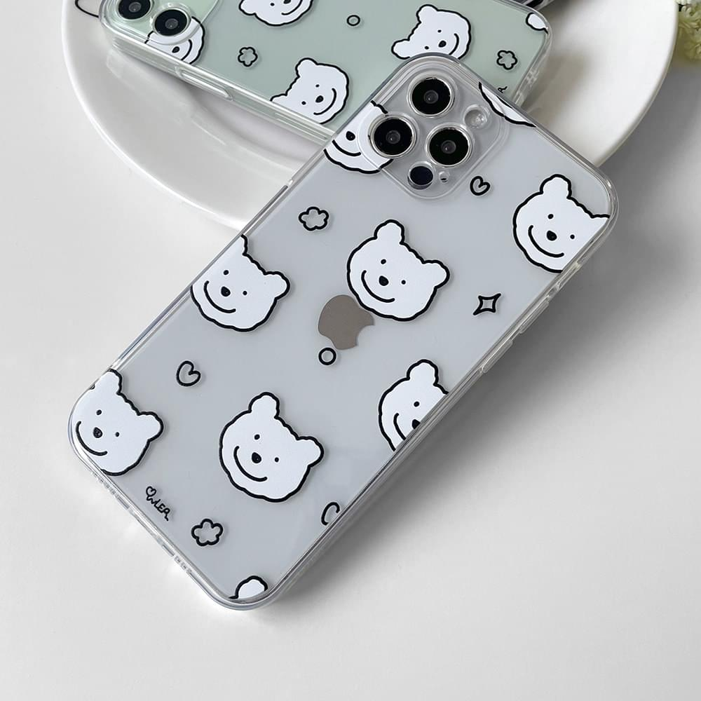 Pomo bear pattern full cover iphone case