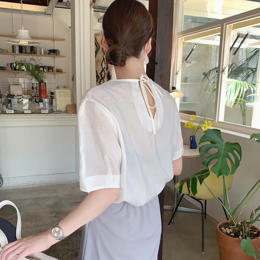 Amy ribbon blouse